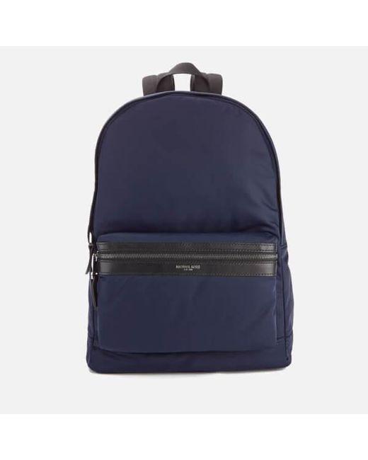 Michael Kors - Blue Men's Kent Nylon Backpack for Men - Lyst
