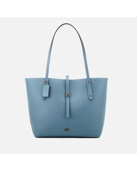 4cd3019fee25 Coach Women s Market Tote Bag in Blue - Lyst
