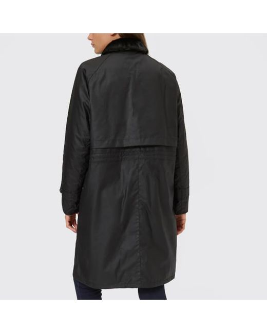 52cf4226aac In Barbour Lyst Women's Jacket Floree Wax Black pnCxS