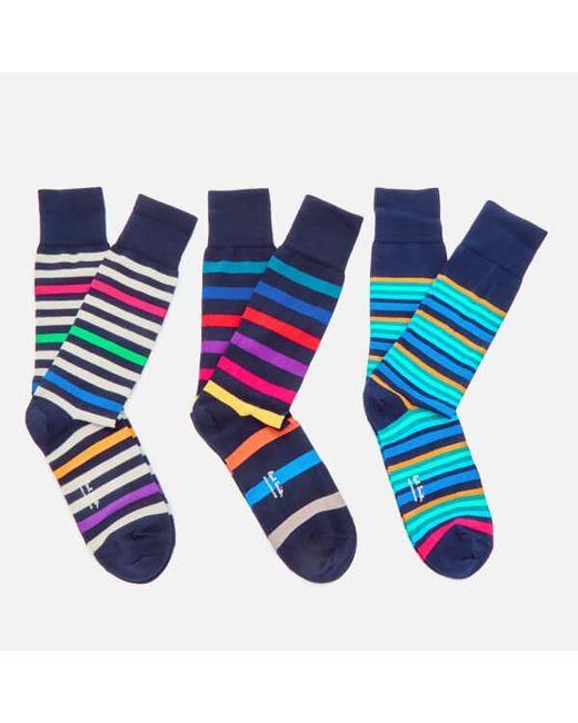 Paul Smith - Blue Men's 3 Pack Socks for Men - Lyst