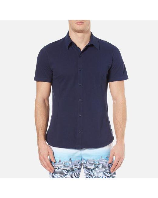 Orlebar Brown   Blue Men's Morton Short Sleeve Pique Shirt for Men   Lyst
