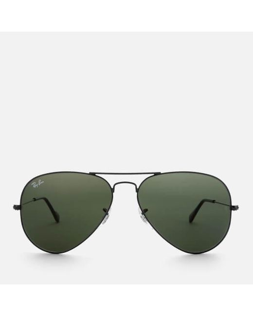 2d3d814f8a0 Ray-Ban - Black Rayban Men s Aviator Metal Frame Sunglasses for Men - Lyst  ...