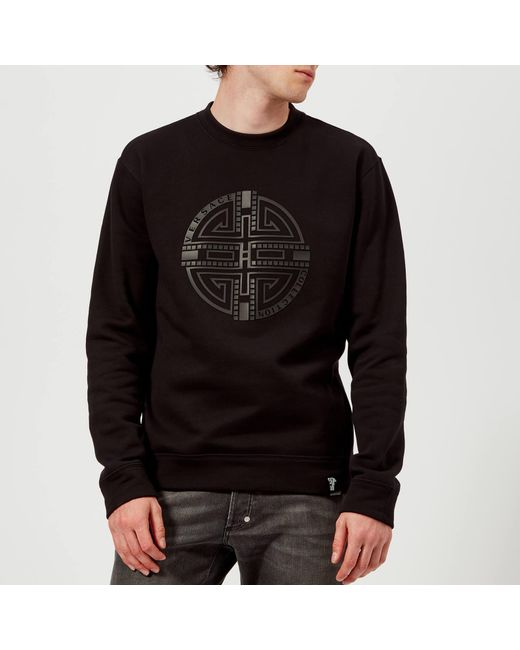 Versace - Black Circle Logo Sweatshirt for Men - Lyst