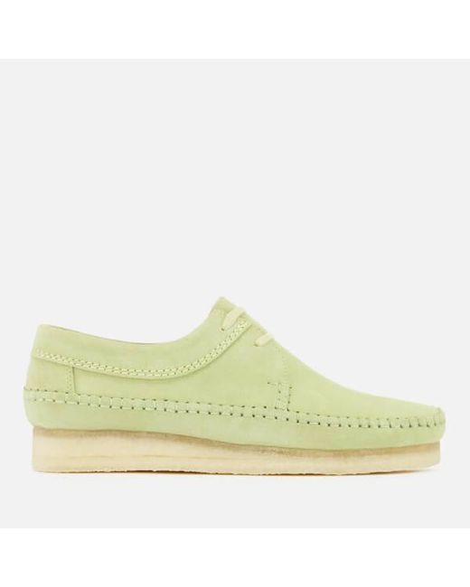 Clarks - Green Men's Weaver Suede Shoes for Men - Lyst