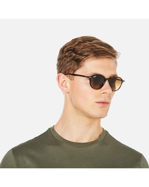... clearance ray ban brown rayban round classic sunglasses 49mm lyst 882aa  aa837 625197b816