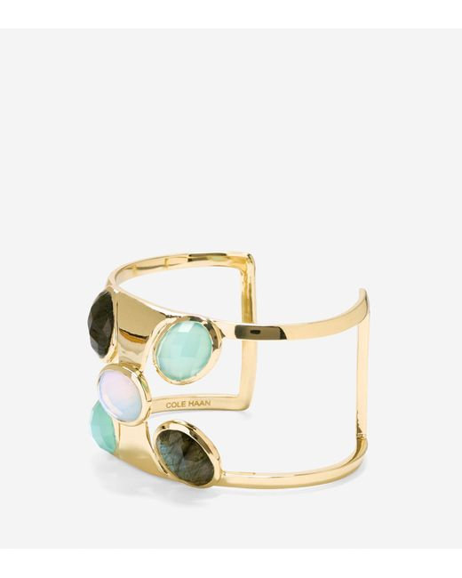 Cole Haan | Metallic Water Under The Bridge Semi-precious Statement Cuff | Lyst