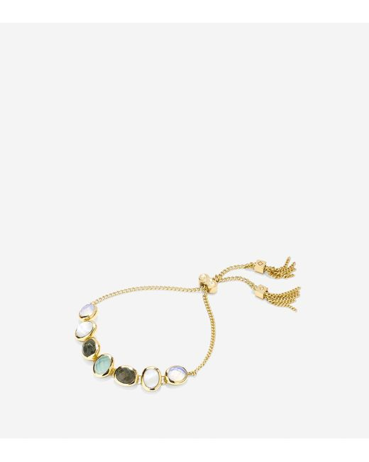 Cole Haan | Metallic Water Under The Bridge Semi-precious Pull Tie Bracelet | Lyst
