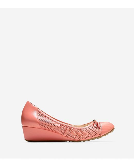 Cole Haan   Pink Tali Grand Lace Wedge (40mm)   Lyst