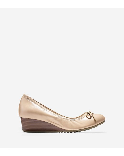 Cole Haan - Natural Tali Grand Lace Wedge (40mm) - Lyst