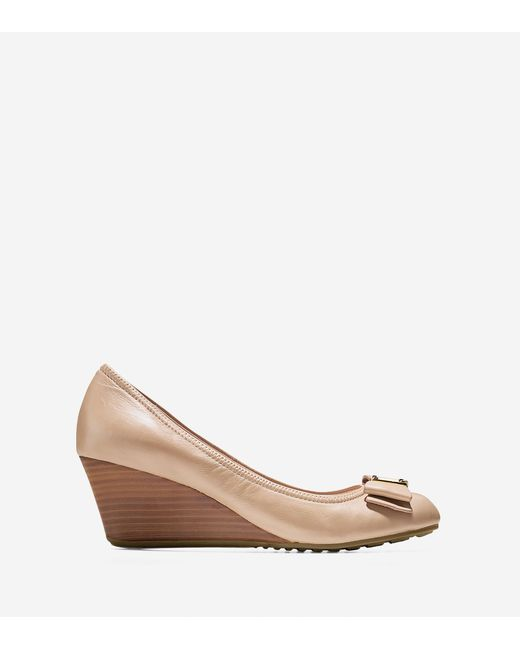 Cole Haan - Natural Tali Grand Bow Wedge (65mm) - Lyst