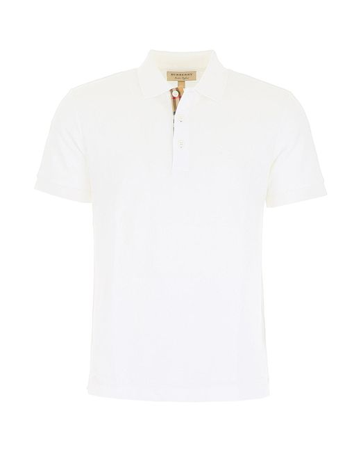 88649cc6aa2d Burberry - White Hartford Polo Shirt for Men - Lyst ...