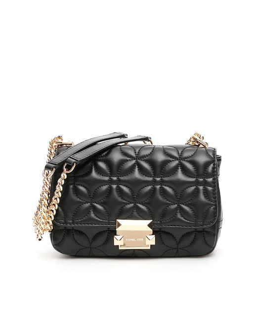 7b84caa2cee9 MICHAEL Michael Kors - Black Quilted Leather Sloan Bag - Lyst ...