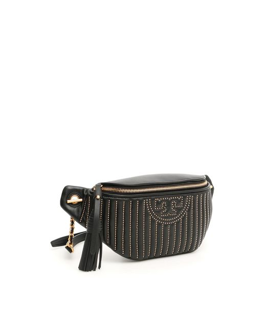 f349a55300d ... Tory Burch - Black Fleming Quilted Beltbag - Lyst ...