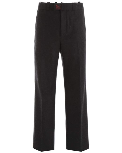 Raf Simons Gray Wool Trousers for men