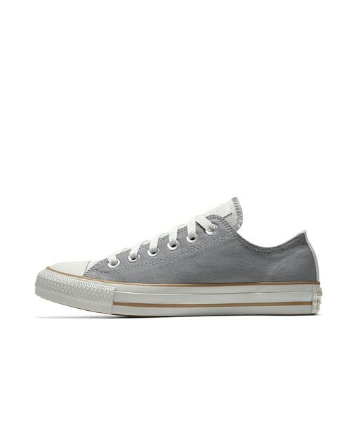 Converse - Gray Custom Chuck Taylor All Star Low Top Shoe for Men - Lyst