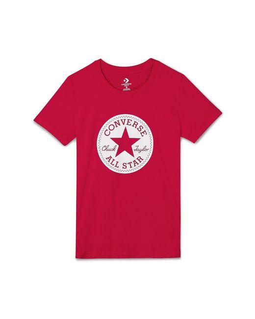 Converse - Red Chuck Patch Women's T-shirt - Lyst