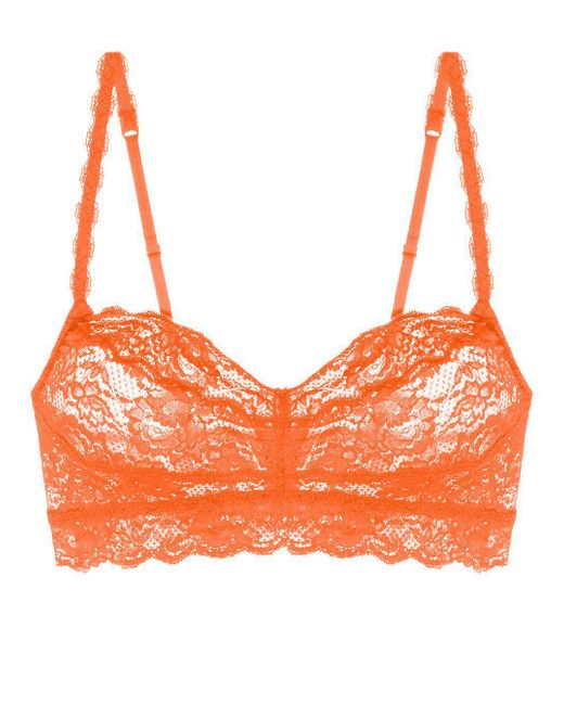 Cosabella - Orange Never Say Never Sweetie™ Lace Bralette - Lyst