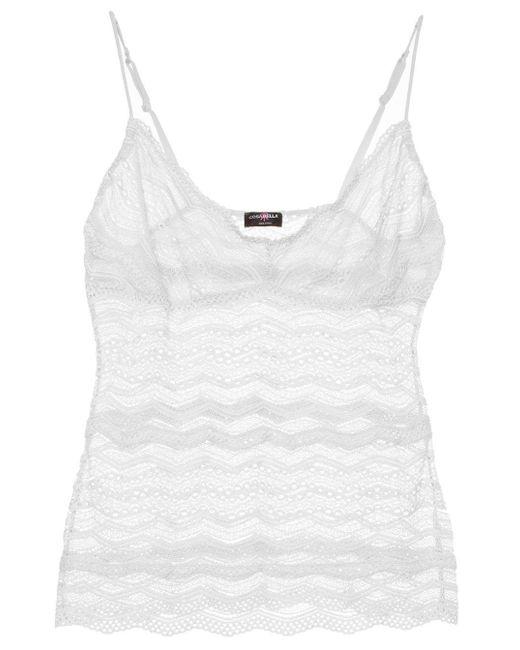 Cosabella - White Ceylon Long Camisole - Lyst