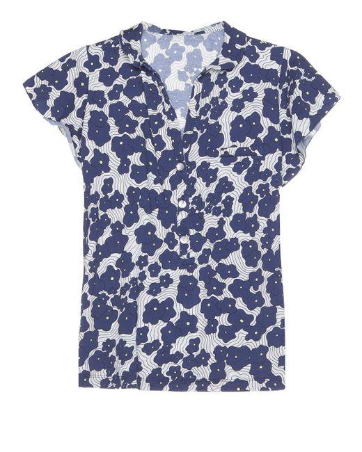 Cosabella | Blue Emma Short Sleeve Pajama Top | Lyst