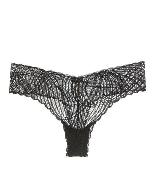 Cosabella | Black Minoa Lowrider Thong | Lyst