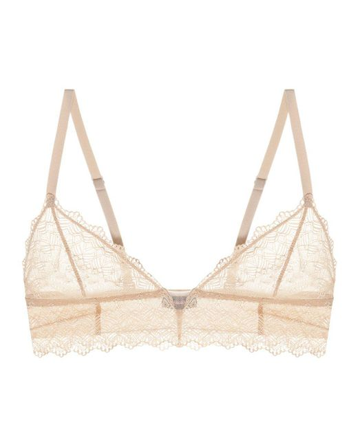 Cosabella | Natural Papyrus Lace Bralette | Lyst