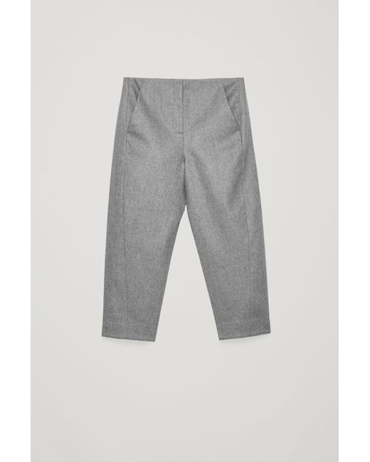 f25bf8ef9e397 COS Twisted-seam Wool Trousers in Gray - Lyst