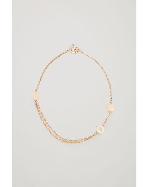 COS | Metallic Ring-detail Chain Bracelet | Lyst