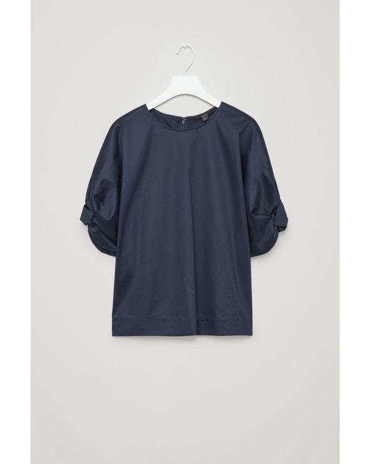 db64c4be96f3 COS Top With Voluminous Body in Blue - Lyst