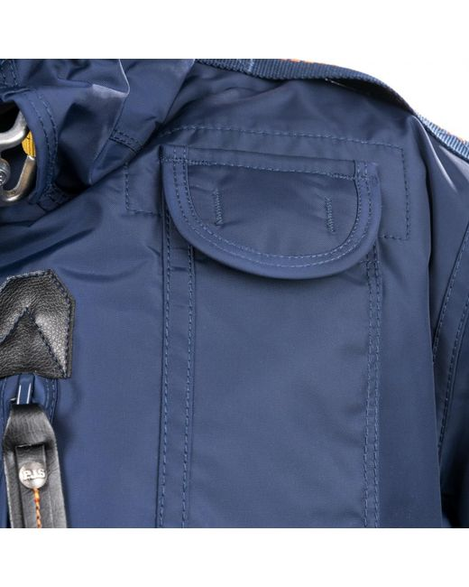 ... Parajumpers - Blue Gobi Mens Hooded Bomber Jacket for Men - Lyst ...