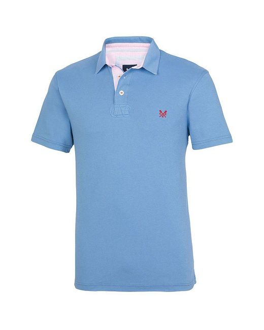 Crew - Blue Richmond Pima Mens Polo for Men - Lyst