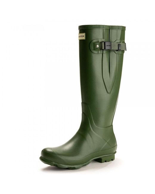 Hunter - Green Field Norris Side Adjustable Ladies Wellington Boot - Lyst