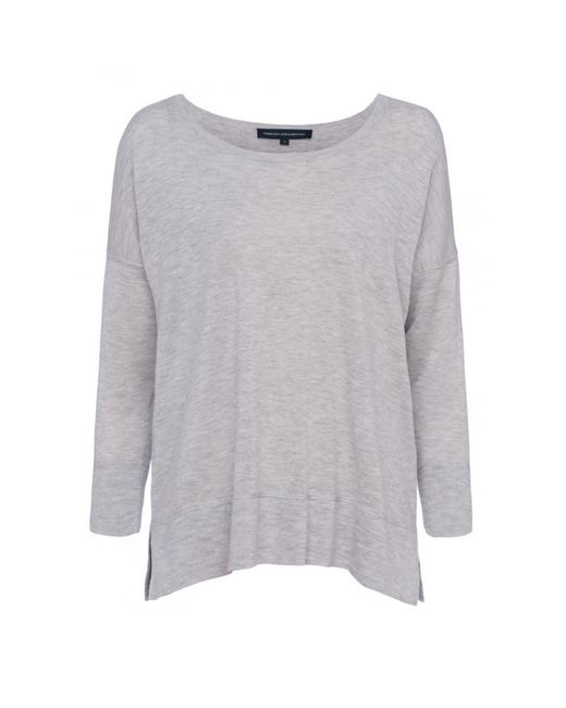 French Connection - Gray Spring Light Knits Long Sleeve Scoop Neck Womens Jumper - Lyst