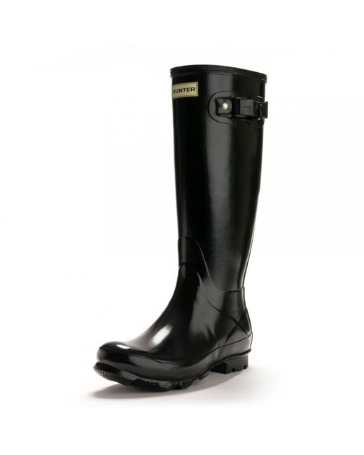 Hunter - Black Norris Field Gloss Ladies Boot - Lyst