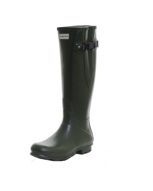 Hunter   Green Field Norris Side Adjustable Ladies Wellington Boot   Lyst