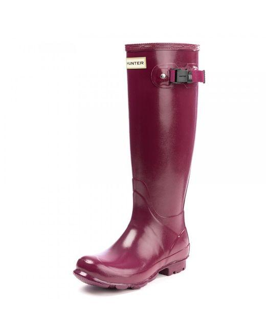 Hunter | Red Norris Field Gloss Ladies Boot | Lyst
