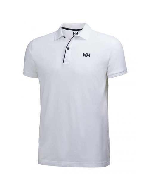 Helly Hansen | White Crew Hh Classic Mens Polo for Men | Lyst
