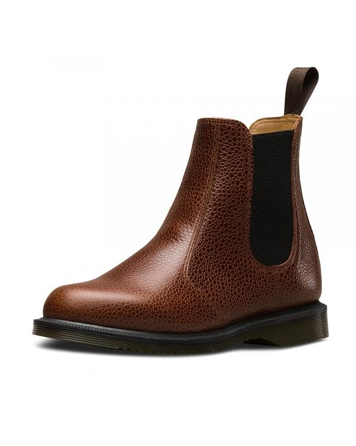 Dr. Martens | Brown Kensington Flora Ladies Chelsea Boot | Lyst