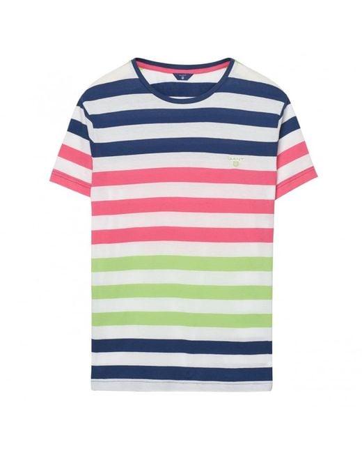 Gant - Blue Multi Stripe Mens - Lyst