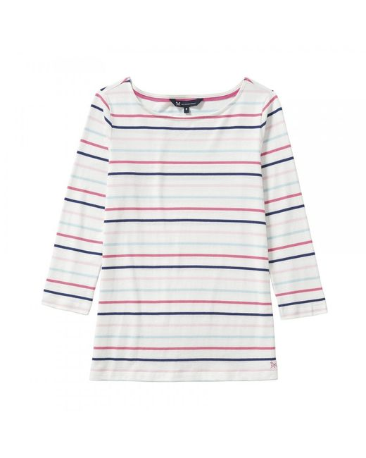 Crew - White Essential Breton Womens Top (aw17) - Lyst