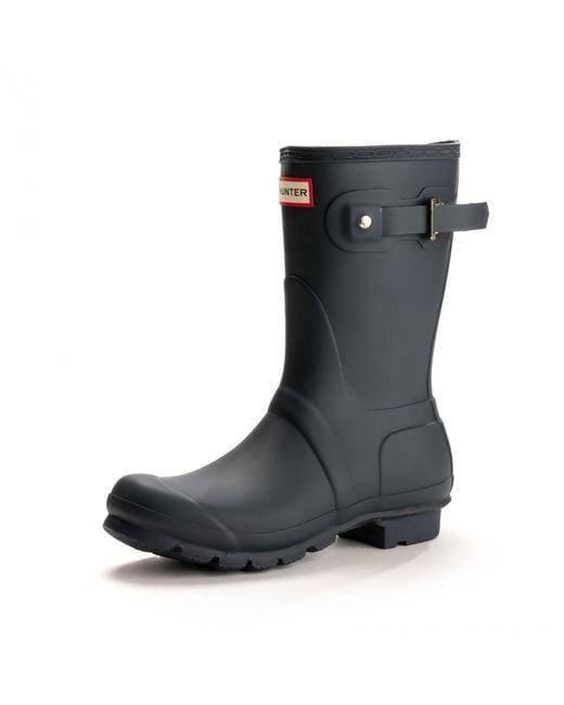 Hunter - Blue Original Short Boots for Men - Lyst