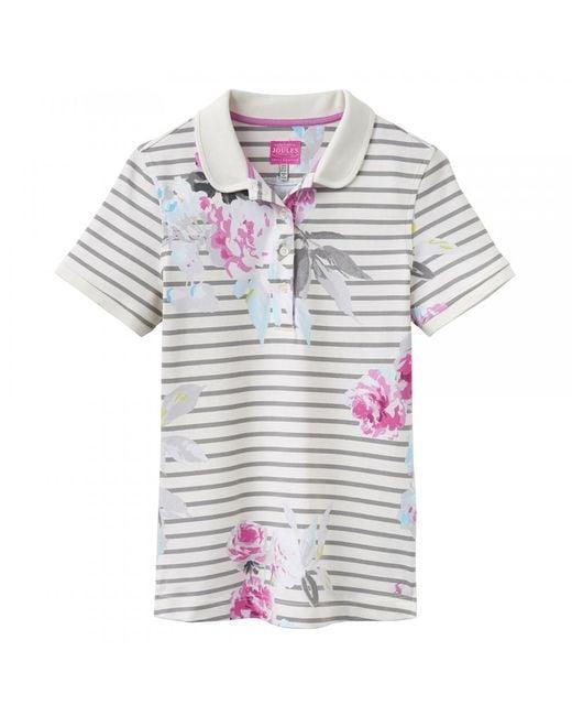 Joules - Gray Trinity Ladies Polo Shirt (w) - Lyst