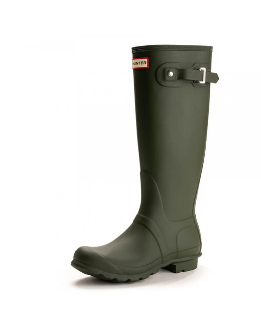 Hunter - Green Original Tall Ladies Wellington Boots - Lyst