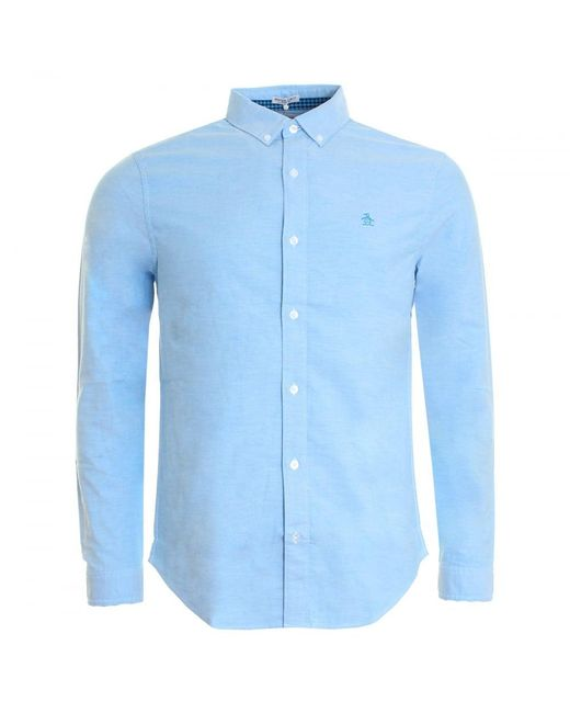 Original Penguin | Blue Core Oxford Mens Shirt for Men | Lyst