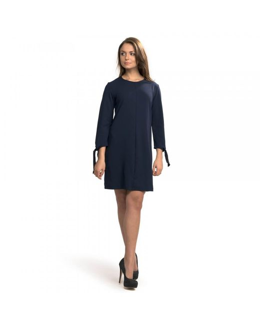 Great Plains | Blue Tania Tie Jersey Shift Womens Dress | Lyst