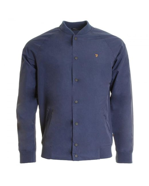 Farah - Blue Bellinger Mens Bomber Jacket for Men - Lyst