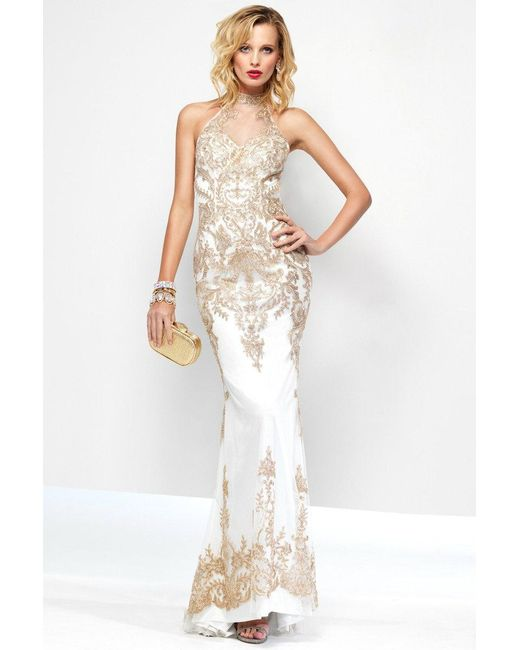 Dress gold n white