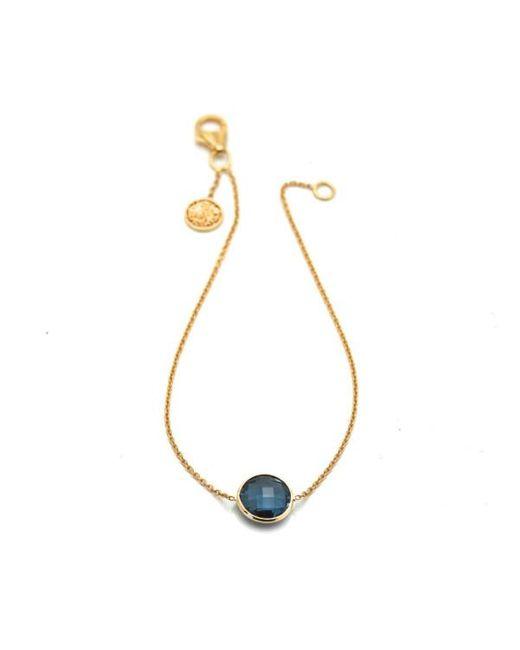 Trésor | Blue Rainbow Moonstone Single Stone Bracelet In K Yg | Lyst