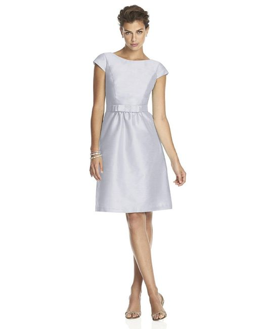 Alfred Sung | White D Bridesmaid Dress In Dove | Lyst