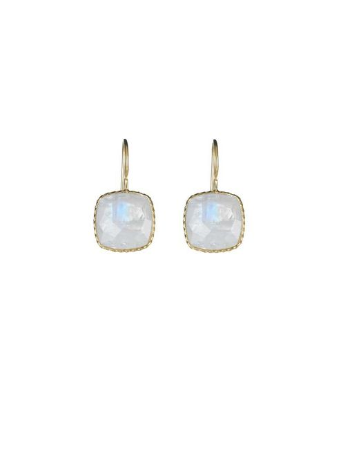 Margaret Elizabeth | White Mini Cushion Cut Drops Moonstone | Lyst