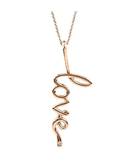 Avanessi | Metallic Big Love Pendant Necklace | Lyst